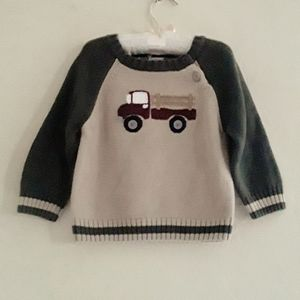 Gymboree  Earth Tone Truck Sweater 12-18 Months